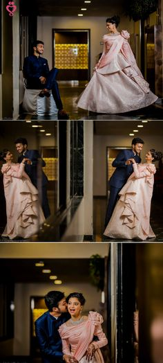 Love Story Shot - Bride and Groom in a Nice Outfits. Pre Wedding Shoot Ideas, Pre Wedding Poses, Pre Wedding Photoshoot, Wedding Pics, Trendy Wedding, Post Wedding, Wedding Album, Wedding Venues, Couple Wedding Dress