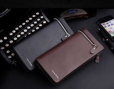 Business Long Designer Men's Leather Wallet with Zipper; Man Purse with Coin Pocket; Card Wallet, Purse Wallet, Clutch Purse, Man Purse, Luxury Purses, Long Wallet, Leather Men, Card Holder, Fashion Men