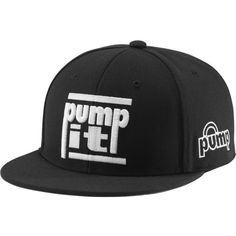 Reebok Classic Pump It Cap ($9.99) ❤ liked on Polyvore featuring accessories, hats, black, classic, fitted caps, mesh snapback hats, flat bill hats, snapback hats and sports snapback hats