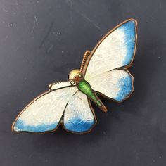 Antique Enamel Butterfly Brooch . Victorian Brooch. Pin No.00995 hs by PartsForYou on Etsy https://www.etsy.com/listing/97662100/antique-enamel-butterfly-brooch