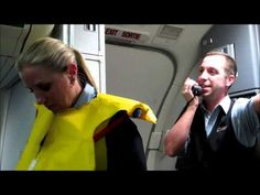 ▶ Part 1: Hilarious Westjet flight attendant before takeoff with Tommy (there need to be more human beings like this one!)