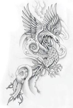Resultado de imagem para phoenix tattoo