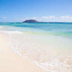 """El sentido de """"paraíso en tierra"""" en una maravillosa instantánea de Corralejo #Fuerteventura"""
