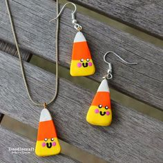 Doodlecraft: Kawaii Candy Corn Jewelry!