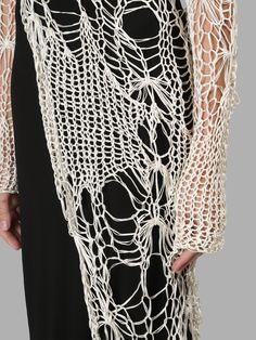 Fabric Manipulation Techniques, Textiles, Fashion Details, Fashion Design, Monochrome Fashion, Triptych, Knit Fashion, Hippie Boho, Fabric Crafts