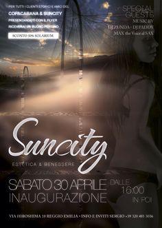 Flyer inaugurazione Suncity Reggio Emilia 30 aprile 2016 Retro