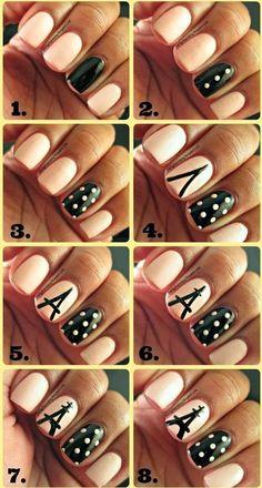 10 tutoriels pour des ongles en noirs et blancs