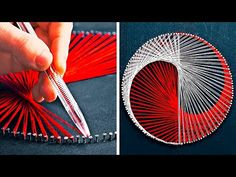 This time we prepared a new collection of crafts that will brighten up your boring winter days. String Art Diy, String Art Tutorials, String Art Patterns, Diy Wall Art, Doily Patterns, Diy Crafts For Adults, Diy Home Crafts, Diy Crafts To Sell, Arts And Crafts