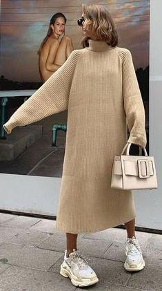 Muslim Fashion, Modest Fashion, Fashion Outfits, Knitwear Fashion, Knit Fashion, Casual Dresses, Casual Outfits, Vintage Street Fashion, Hijab Style