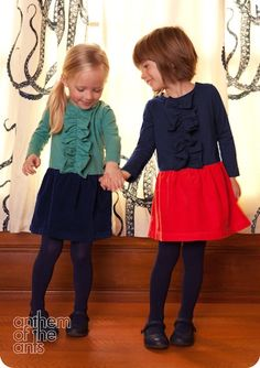 Social Bee Dress in Wintergreen and Red Poppy — Anthem of the Ants :: Vann and Liv ::