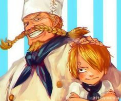 sanji and zeff from ONE PIECE