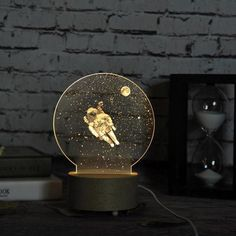 LED Night Light from Apollo Box - Beleuchtung Lampe 3d, Diy Lampe, Lampe Photo, Deco Led, Club Lighting, Moon Decor, Apollo Box, 3d Laser, Led Night Light