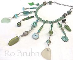 Sea Dreaming hand made sea glass necklace. by robruhn on Etsy