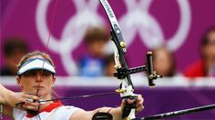 Naomi Folkard of Great Britain competes in the women's individual archery