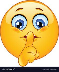 Illustration about Cute emoticon making silence sign. Illustration of isolated, forefinger, computer - 15882081 Emoticon Feliz, Emoticon Faces, Funny Emoji Faces, Smiley Faces, Emoticons Text, Animated Emoticons, Funny Emoticons, Love Smiley, Emoji Love