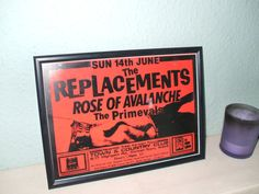 The Replacements Framed Gig Poster Print by indieprints on Etsy, $20.00