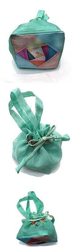Kimchi Blue Bags. Folding Shopping Bag Handmade Collectible Reusable Eco Bag Makeup & Traditional Style Purse (Pastel Blue).  #kimchi #blue #bags #kimchiblue #bluebags