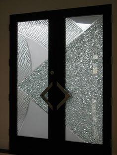 Glass Exterior Door #exteriordoor #glass #door #diamonds #art
