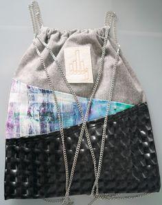 Beutel DaWanda Diy Fashion, Fashion Bags, Fashion Accessories, Hobo Bag Tutorials, Cinch Sack, String Bag, Simple Bags, Love Sewing, Handmade Bags