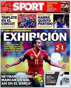 Los Titulares y Portadas de Noticias Destacadas Españolas del 17 de Junio de 2013 del Diario Deportivo Sport ¿Que le parecio esta Portada de este Diario Español?