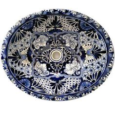 Traditional Mexican Sink-Flores De Noche II SKU: 10340 https://www.mexicantiledesigns.com/collections/sinks/products/traditional-mexican-sink-flores-de-noche-ii?variant=335833756