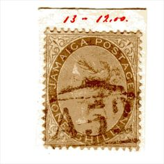 QV Jamaica 1 Shilling Dull Brown (SG12) used with A52 Manchioneal cancel