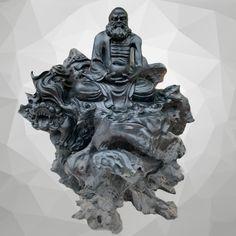 Đạt Ma thiền gỗ mun sừng hiếm siêu VIP Kích thước 80-60-60 cm Nặng 50 kg Liên hệ/Zalo: 0904570132 Lion Sculpture, Statue, Sculptures, Sculpture