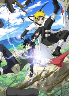 Anime/manga: Naruto (Shippuden) Characters: Sasuke and Naruto