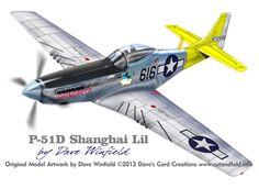 P-51D Mustang Shanghai Lil - Paper Model Mockup Artwork by Dave Winfield - www.papermodelshop.com