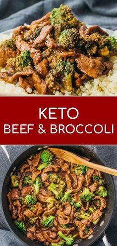 A low carb and keto friendly version of beef and broccoli stir fry. A low carb and keto friendly version of beef and broccoli stir fry. Lunch Recipes, Easy Dinner Recipes, Beef Recipes, Low Carb Recipes, Easy Meals, Lunch Foods, Healthy Recipes, Healthy Stirfry Recipes, Steak Stirfry Recipes