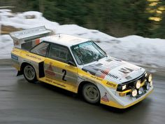 We recently showed you a video by Petrolicious of a German man who created an exact replica of the Audi Sport Quattro Group B rally racer. Audi Quattro, Sport Quattro, Audi Sport, Sport Cars, Race Cars, Motor Sport, Maserati, Dream Cars, Monte Carlo