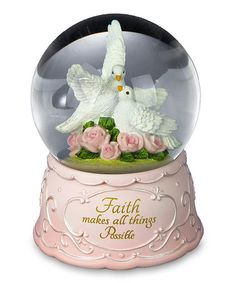 Loving this Faith & Doves Water Globe on #zulily! #zulilyfinds