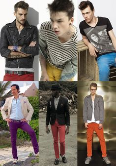 Men's Coloured Denim Look Book