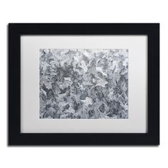 Kurt Shaffer 'Frost Mosaic' White Matte, Framed Wall Art