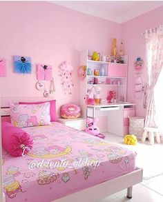 56 ideas bedroom girls pink small rooms for 2019 Small Room Bedroom, Trendy Bedroom, Bedroom Colors, Girls Bedroom, Bedroom Decor, Small Rooms, Bedrooms, Cute Room Ideas, Cute Room Decor