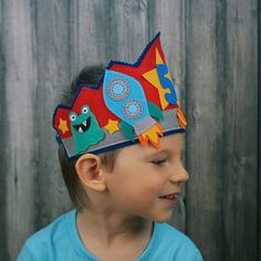 Astronaut birthday party crown  Felt space by MiracleInspiration