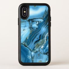 Deep Blue Marble OtterBox Symmetry iPhone X Case - marble gifts style stylish nature unique personalize