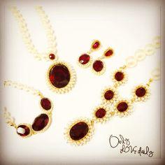 「red jewelry #accessory #necklace #bracelet #pierce #bijou #jewelry #old #onlylovedaily」