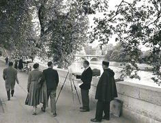 The Banks of the Seine, Paris circa 1950 Edouard Boubat
