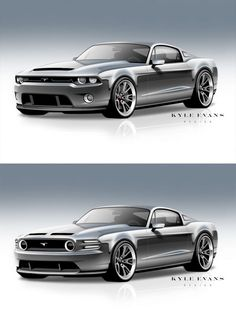 Ford Mustang Design Sketches by Kyle Evans