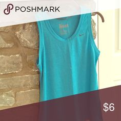 Exercise top Dri fit turquoise exercise top Nike Tops