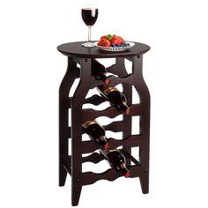 Wine Rack Solid Wood 8 Bottle Rack Espresso Storage Holder Display Home Liquor #Winsome