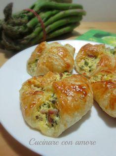 Rustici con ricotta asparagi - Cucinare con amore