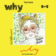 Just having fun on the image teaser and D-5 for #WHY Taeyeon #sugarhanii