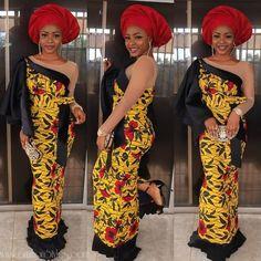 Cc @missobianuju_ Best African Dresses, African Fashion Ankara, Latest African Fashion Dresses, African Print Dresses, African Print Fashion, African Prints, African Style, African Lace, African Wear