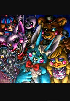 Fnaf 2 #toyfreddy #toychica #toybonnie #puppet #bollonboy #mangle there's a lot of tags I know...meh