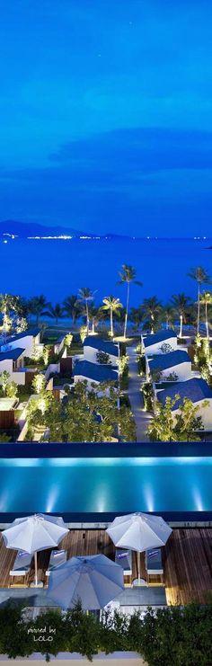 The Luxurious W Retreat Koh Samui Hotel, Thailand - Adelto Design Hotel, Dream Vacations, Vacation Spots, Koh Samui, Samui Thailand, Tropical Beaches, Asia Travel, Hotels And Resorts, Beautiful Beaches