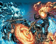 Ghost Rider vs Ghost Rider - Visit now for 3D Dragon Ball Z shirts now on sale!