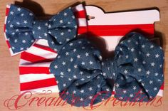 Sister bubble bow headband and matching big brother bow tie by Creative Creations