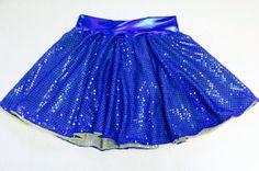 Double sparkle sequin Running skirt spandex lycra by suestevepat, $25.00